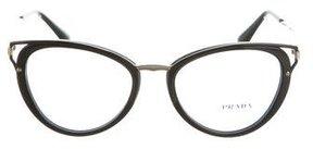 Prada Round Logo Eyeglasses w/ Tags