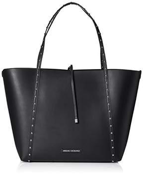 Armani Exchange A X Metal Studded Big Shopping Tote Bag
