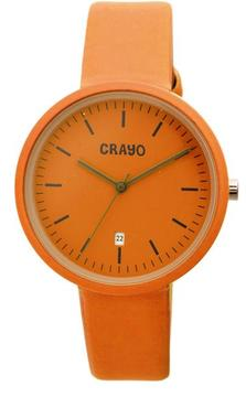 Crayo Easy Collection CRACR2404 Unisex Watch with Leather Strap