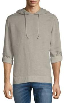 Saks Fifth Avenue BLACK Heathered Long-Sleeve Hoodie