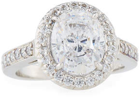 FANTASIA Pave Oval CZ Crystal Ring