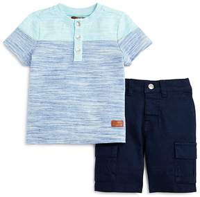 7 For All Mankind Boys' Striped Tee & Cargo Shorts Set - Baby
