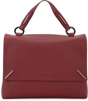 Orciani Kate Bordeaux Tumbled Leather Handbag