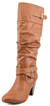 Rampage Eliven Women Round Toe Synthetic Brown Knee High Boot.