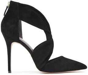 Reiss Donatella Suede Tie-Front Shoes