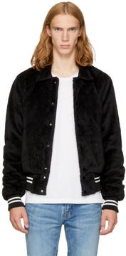 Amiri Black Sherpa Band Jacket