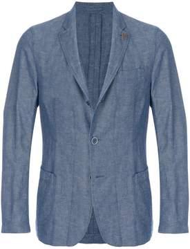 Lardini single breasted fitted blazer