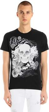 Just Cavalli Skulls Printed Cotton Jersey T-Shirt