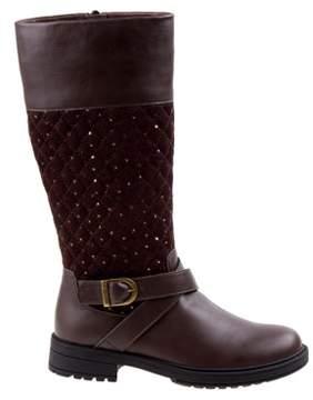 KensieGirl Kids' Quilted Knee High Riding Boot Pre/Grade School