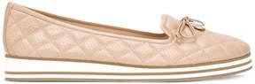Baldinini quilted platform ballerina shoes