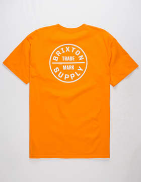 Brixton Oath Orange Mens T-Shirt