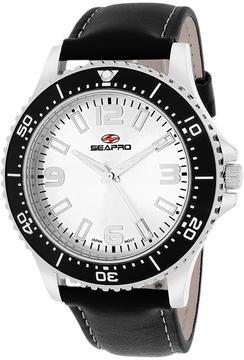 Seapro SP5310 Men's Tideway Black Leather Watch