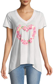Chaser Boutique Heart Front Sport Shirt