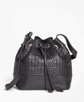 Brooks Brothers BB Quilted Leather Bucket Bag