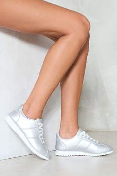 Nasty Gal Starships Metallic Sneaker