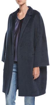 Brunello Cucinelli Textured Knit Alpaca Car Coat