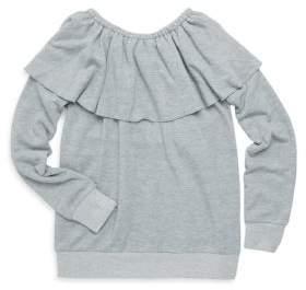 Splendid Girl's Off-the-Shoulder Sweatshirt