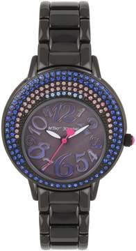 Betsey Johnson CRESCENT CRYSTALS BLACK WATCH
