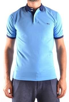 Harmont & Blaine Men's Light Blue Cotton Polo Shirt.