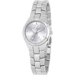 Disney Minnie Mouse Women's Stainless Steel Watch, Silver Bracelet