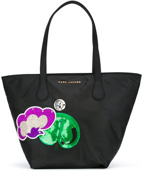 Marc Jacobs embroidered patch tote - BLACK - STYLE