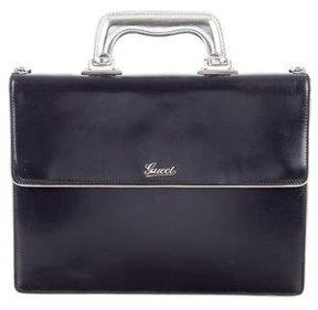 Gucci Patent Briefcase - BLUE - STYLE