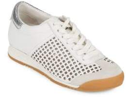 Ash Cutout Leather Sneakers