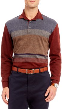 Daniel Cremieux Signature Printed Long-Sleeve Polo Shirt