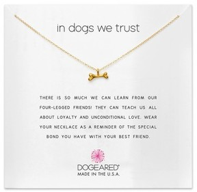 Dogeared Women's In Dogs We Trust Pendant Necklace