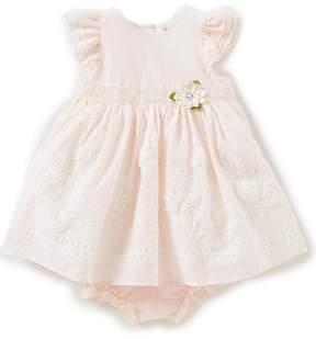 Laura Ashley London Baby Girls Newborn-24 Months Embroidered Floral-Applique Dress