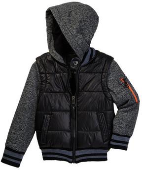 Urban Republic Space Dye Matte Ciree 2fer Jacket (Toddler & Little Boys)