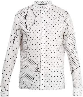 Haider Ackermann Abstract polka-dot silk shirt