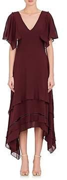 Derek Lam Women's Tiered-Hem Silk Georgette Midi-Dress