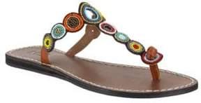 Mia Apache Leather Slide Sandals