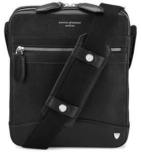 Aspinal of London Anderson Midi Messenger Bag In Black Saffiano