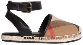 Burberry Classic Check Cotton Canvas Espadrilles