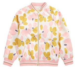 Kate Spade Toddler Girl's Printed Satin Bomber Jacket