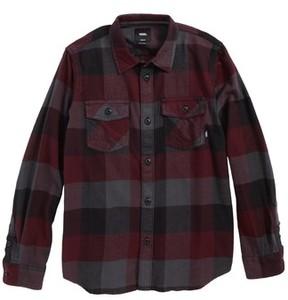 Vans Boy's Box Plaid Flannel Shirt