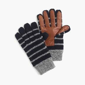J.Crew Striped wool smartphone gloves