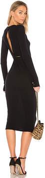 Enza Costa Cashmere Draped Back Midi Dress