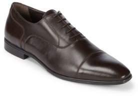 a. testoni Leather Cap Toe Oxford Shoes