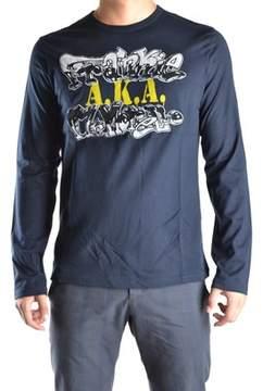 Frankie Morello Men's Blue Cotton Sweatshirt.