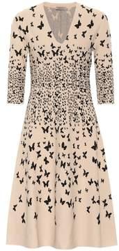 Bottega Veneta Butterfly-jacquard dress