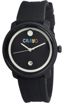 Crayo Fresh Black Ion-plated Stainless Steel Case Unisex Watch