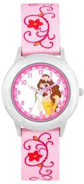 Disney Disney's Beauty and the Beast Belle Kids' Crystal Time Teacher Watch
