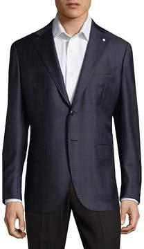 Lubiam Men's Patterned Wool Sportcoat
