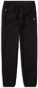 Ralph Lauren Boys' Twill & French Terry Joggers - Big Kid