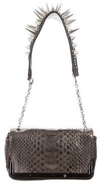 Christian Louboutin Artemis Studded Python Bag