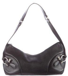 Burberry Leather Shoulder Bag - BLACK - STYLE
