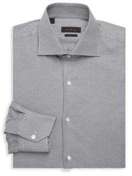 Saks Fifth Avenue COLLECTION Printed Cotton Dress Shirt